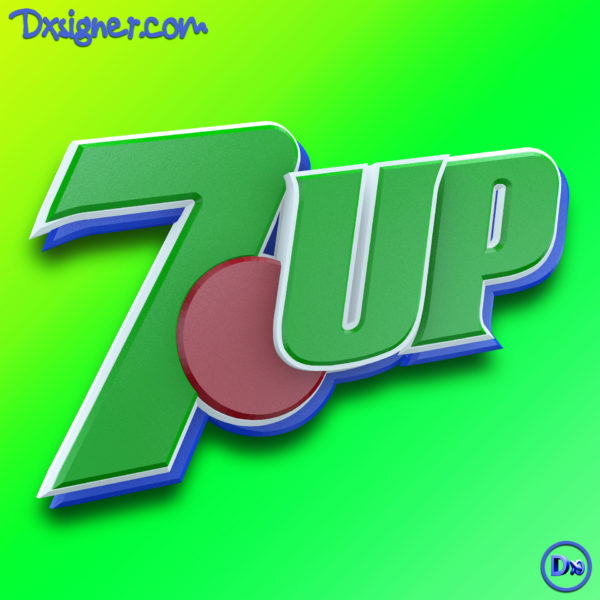 7UP-2D-to-3D-logo-Design-uplifting-by-dxsigner-design-agency-Bretagne