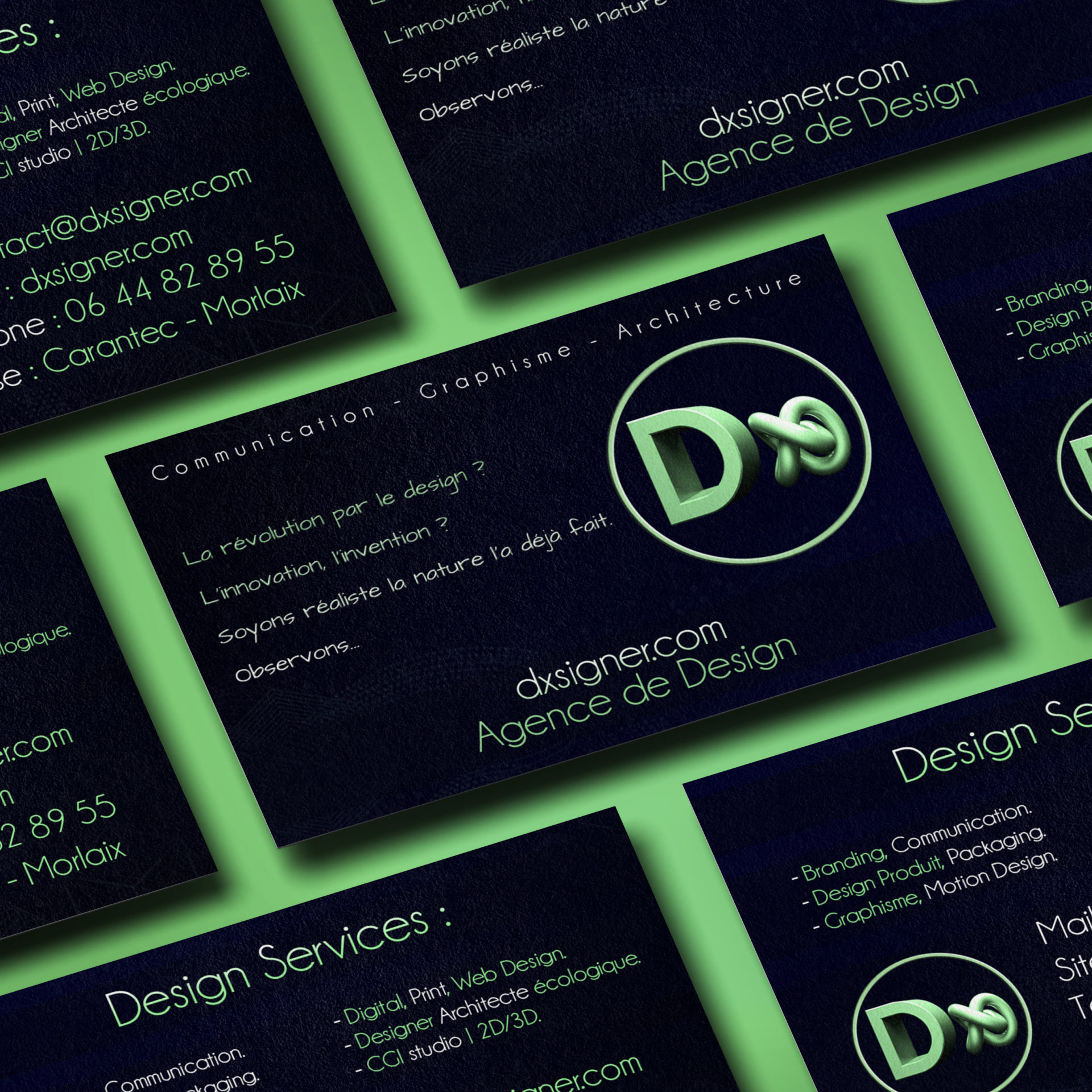 Graphiste - Graphisme - Design Designer - Bretagne Finistère - Brest Quimper Morlaix - sur mesure - Carte de visite Dxsigner - 001