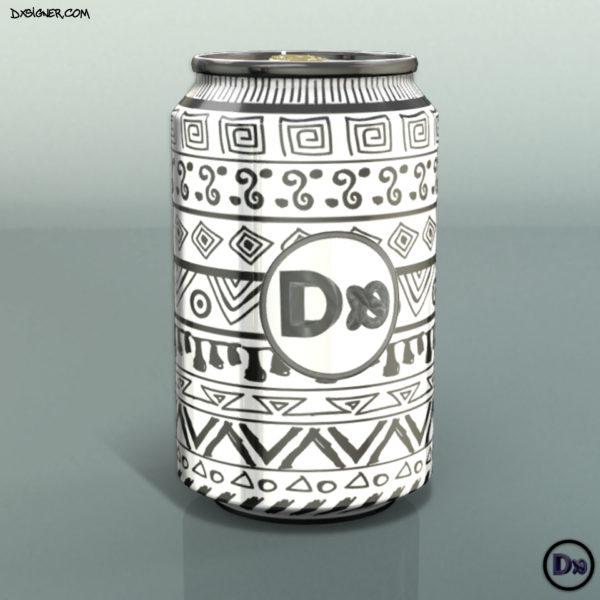 Dxsigner - Designer Consultant en Design produit, packaging, Visualisation 3D | Bretagne, Finistère Brest, Quimper - Cannette de SODA, Boisson - Breizh Cola