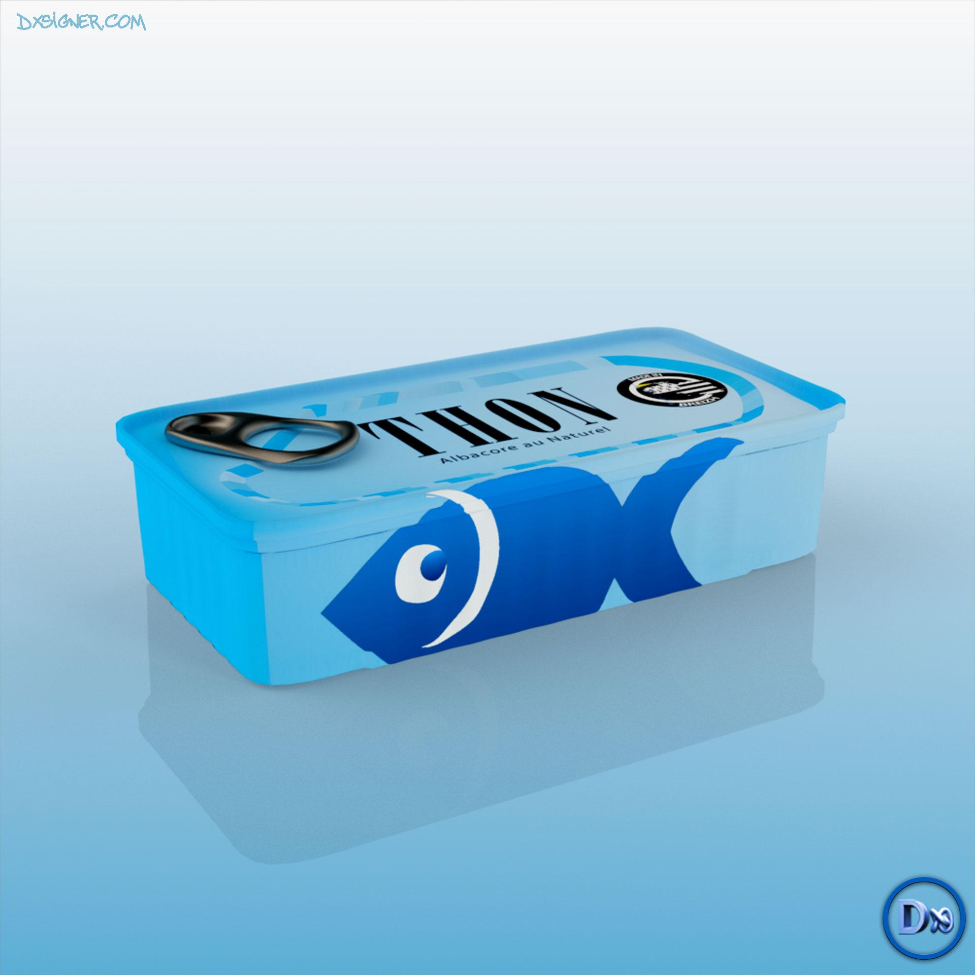 Dxsigner - Designer Consultant en Design produit, packaging, étiquettes, artisans, Visualisation 3D, création 3D de prototype produit entreprises | Bretagne, Finistère Brest, Quimper - - Boite de Thon, Sardine en Conserve -