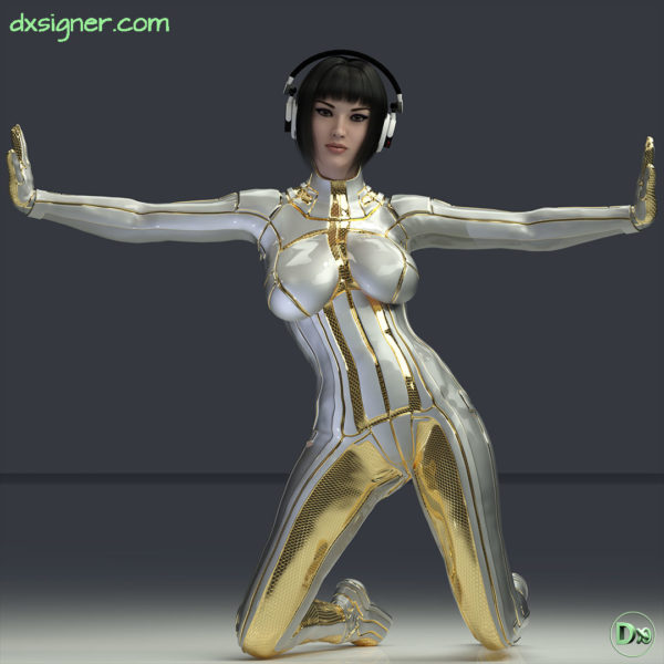 Dxsigner-design-character-creator-animate-3D-jeux-vidéo-game-virtual-influencer-mascotte-mode-photorealistic-render-mode-lifestyle-shooting-photo-illustration-alien-Music-3D-femme