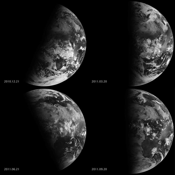 image satellite des Équinoxes vue de l'espace - Meteosat 9 d'EUMETSAT - Septembre 2011